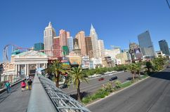 New York-New York Hotel & Casino, metropolitan area, skyline, city, landmark. New York-New York Hotel & Casino is metropolitan area, landmark and downtown. That Stock Photos