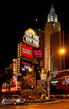 New York - New York Hotel & Casino at night, Las Vegas Royalty Free Stock Photo