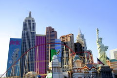 New York New York Hotel - Las Vegas. The New York Hotel in Las Vegas was designed to look like the city's skyline. Also included is the Statue of Liberty.  Photo Stock Images