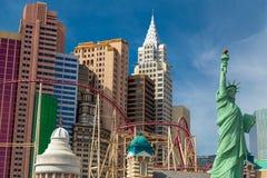 New York - New York hotell och kasino i Las Vegas, Nevada Fotografering för Bildbyråer