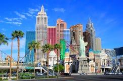 New York - New York hotell och kasino, Las Vegas Nevada Fotografering för Bildbyråer