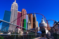 New York New York in Las Vegas Stock Afbeeldingen