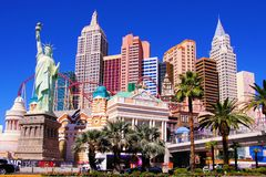 New York, New York, Las Vegas Images libres de droits