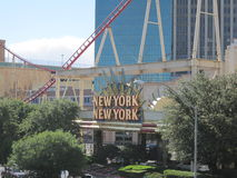 New York New York in Las Vegas Stock Image