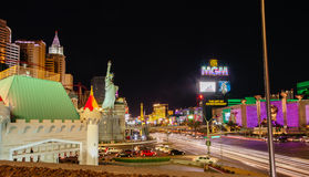 New York-New York and MGM Grand Hotel in Las Vegas Stock Photography