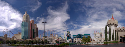 New York-New York and MGM Grand Hotel Stock Photography