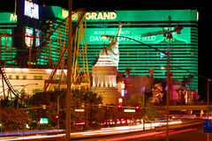 New York New York and MGM Grand Stock Photo