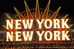 New York New York neon sign in Las Vegas, Nevada Stock Images
