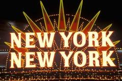 New York New York neon sign in Las Vegas, Nevada stock images