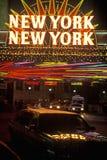 New York New York neon sign in Las Vegas, Nevada Royalty Free Stock Image