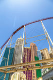 New York-New York resorts in Las Vegas with roller coaster. Stock Image