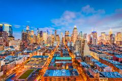 New York, New York, USA. Midtown Manhattan cityscape Royalty Free Stock Images