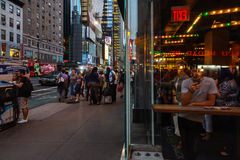 Sidewalk Cafe In New York City Editorial Stock Image