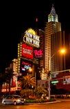 New York - New- Yorkhotel u. -kasino nachts, Las Vegas Lizenzfreies Stockfoto