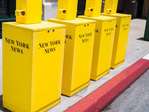 New York Newspaper Stands Stock Photography