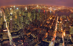 New York at Night. Pnoramic picture of New York from Empire State Building royalty free stock photos