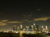 New york by night Royalty Free Stock Photo
