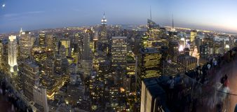 New york by night Royalty Free Stock Photography