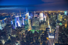 New York at night Royalty Free Stock Image