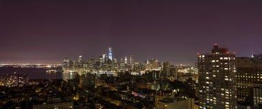 New York by night stock photos