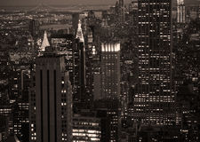New york by night. New York skyline by night stock photo