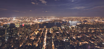 New York at night Royalty Free Stock Photos