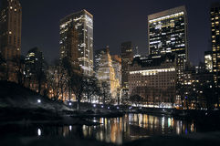 New York at night. New York Central Park at night Stock Photos