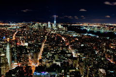 New York by night Stock Image