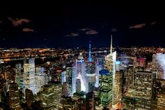 New York night cityline Royalty Free Stock Image