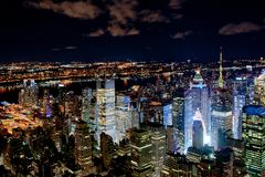 New York night cityscape Stock Images