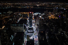 New York. At night, from Empire State building Stock Photos