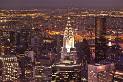 New York by night from Empire State Royalty Free Stock Image
