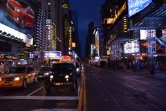 New York by night June 2015 Royalty Free Stock Photos