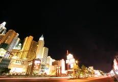 New York - New York at night Las vegas USA stock photo