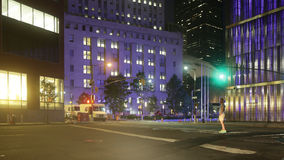 New york night light crossroad 4k time lapse from usa. New york night light crossroad 4k time lapse stock footage