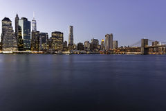 New York at night. Near the east river Royalty Free Stock Images
