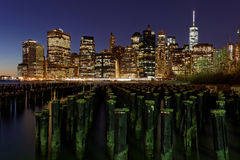 New York at night. Near the east river Stock Photos