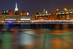 New York 124. New York at night near the east river stock image