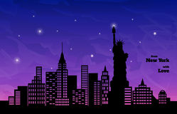New York in night Stock Images