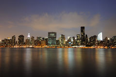 New York Night Scene Royalty Free Stock Photo