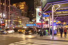 New York night scene Stock Image