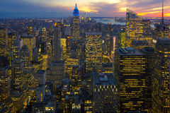 New York night scene Stock Images