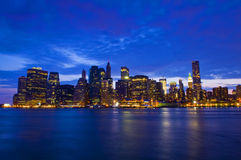 New York night skyline Stock Images
