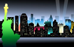 New York at Night - Vector. New York at Night is a  illustration Royalty Free Stock Image