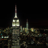 New York at night. A night view of the New York City Stock Photos