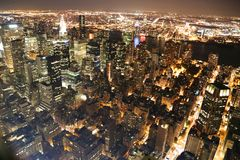 New York at night. View of New York at night from the Empire State Building Stock Photos