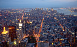 New York Nightscape Stock Photography