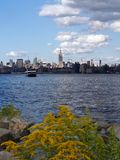 New York from Nj. View of New York City from New Jersey Royalty Free Stock Photos