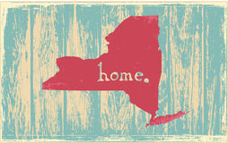 New York nostalgic rustic vintage state vector sign Stock Images