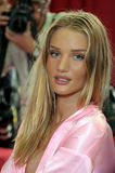 NEW YORK - NOVEMBER 10: Victoria's Secret model  Rosie Huntington-Whiteley getting ready backstage  during the 2010 Victoria's Sec Stock Image